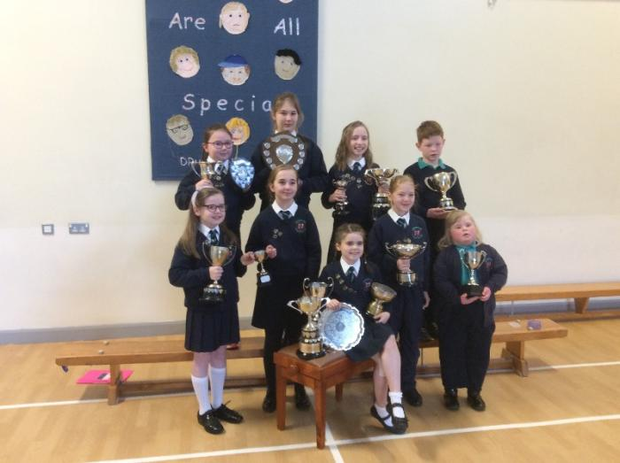Children who came first in their classes at Coleraine Music Festival
